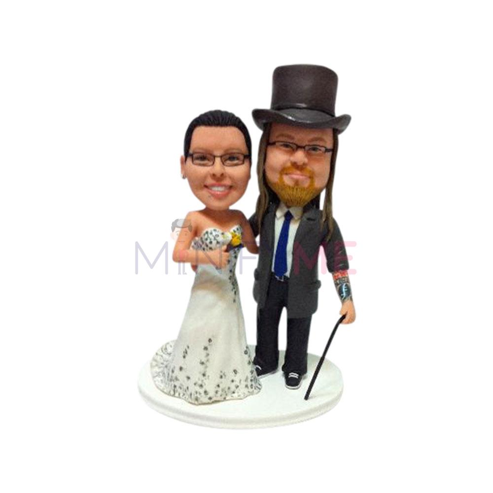 Steampunk Wedding Cake Topper