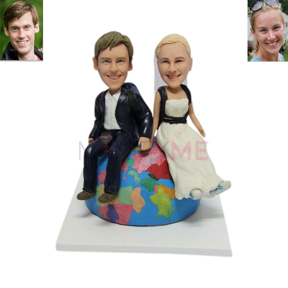 Around The World Wedding Cake Topper