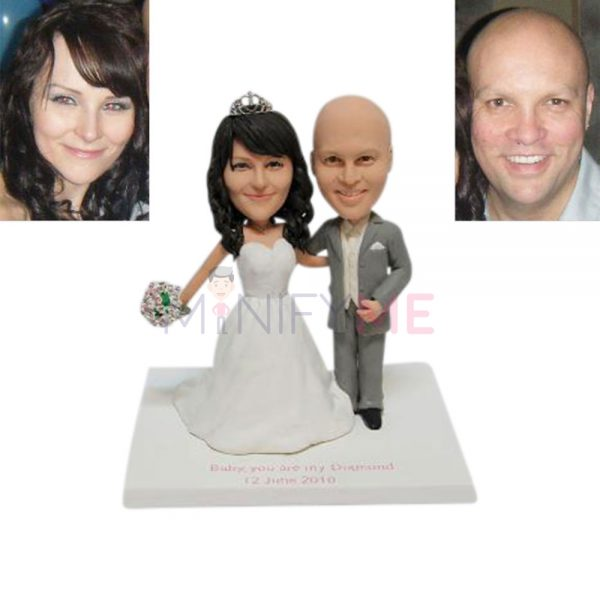 Romantic Wedding Cake Topper
